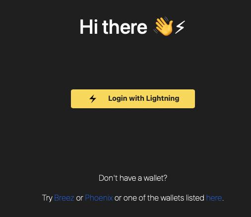 LNURL-Auth per Lightninglogin.live
