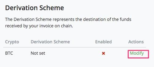 Modify Derivation Scheme