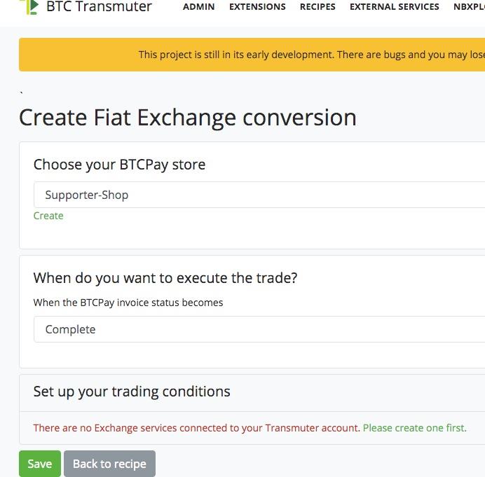 Create Fiat Exchange