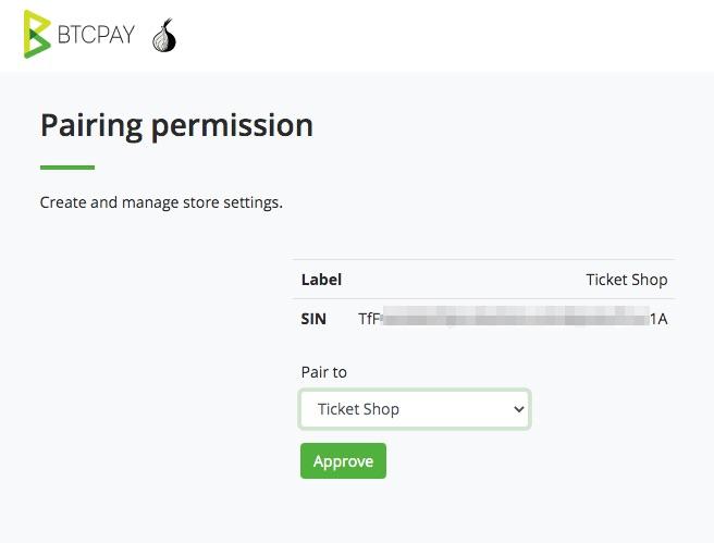 Pairing Permission