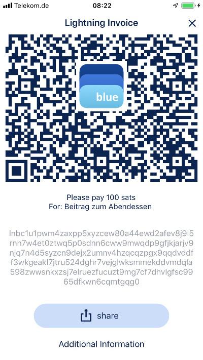 BlueWallet Lightning Invoice