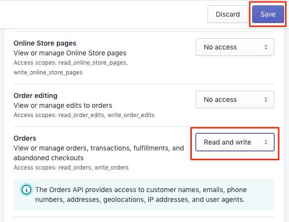 Bitcoin Shopify Orders API