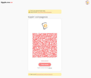 Tippin.me Coinpages.io