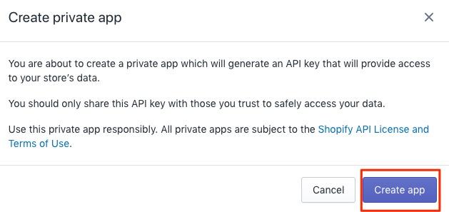 Bitcoin Shopify Create APP