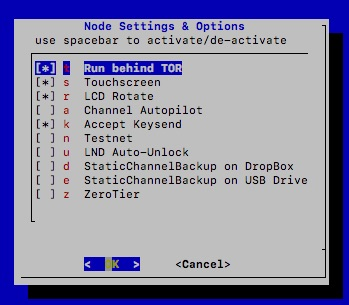 Activation of Tor on the Raspiblitz