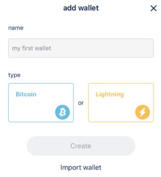 BlueWallet Add Wallet
