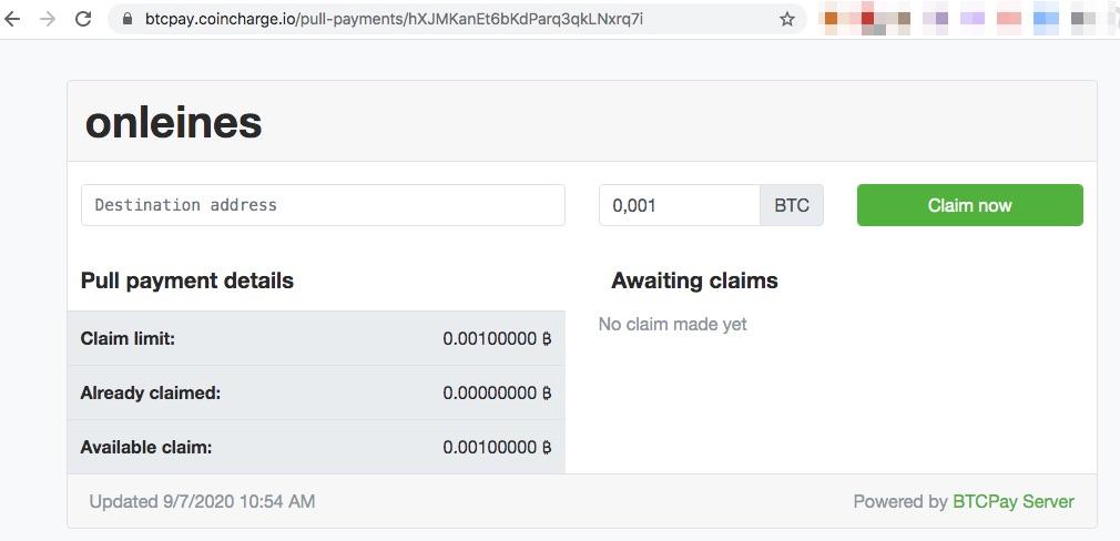 Bitcoin Auszahlung anfordern