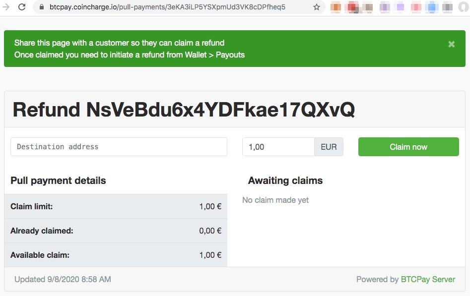 Bitcoin Erstattung erteilen