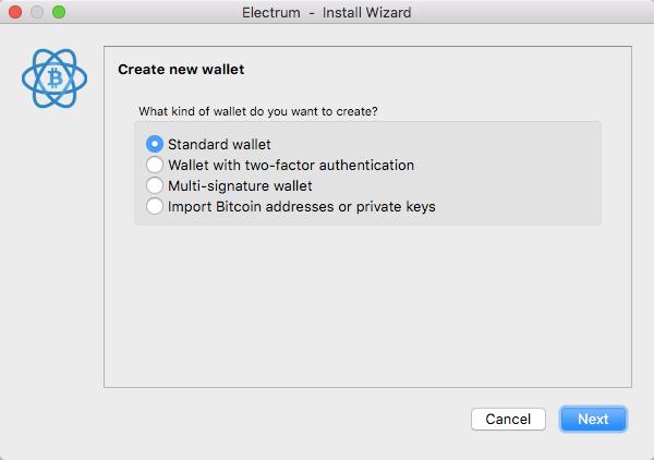 2 Electrum standard wallet 1