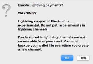 Enable Lightning payments?