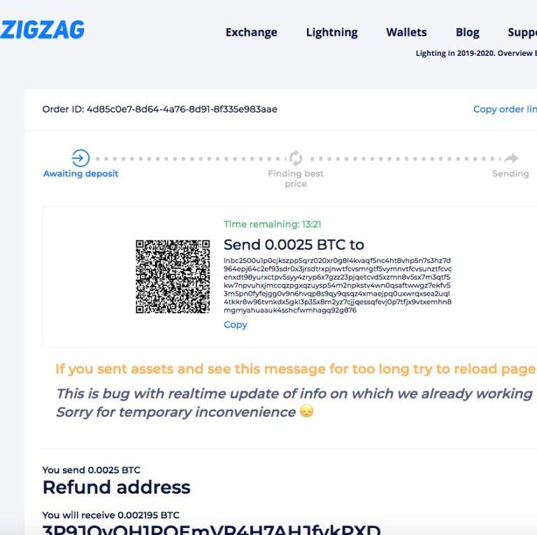 ZigZag Invoice