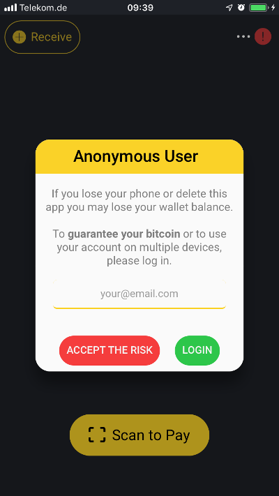 Wallet of Satoshi login
