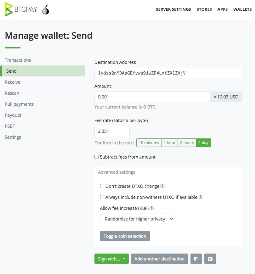 Bitcoin Auszahlung Senden