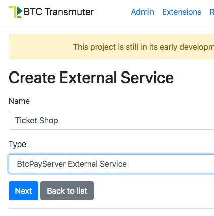 Create External Service