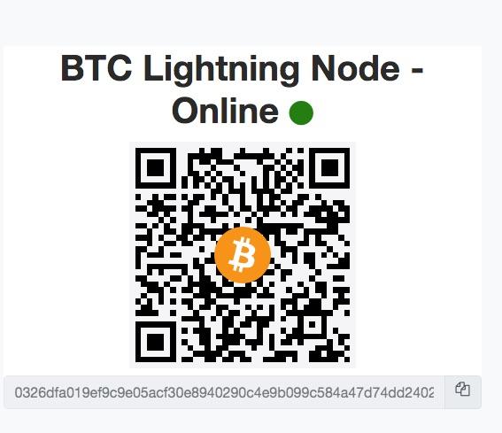 QR Code Public Lightning Node Adresse