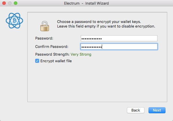 electrum password