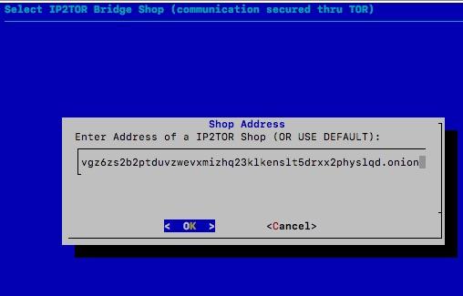 Default IP2TOR Shop Adresse