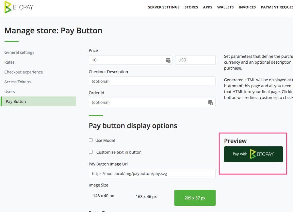 Test mit dem Pay Button