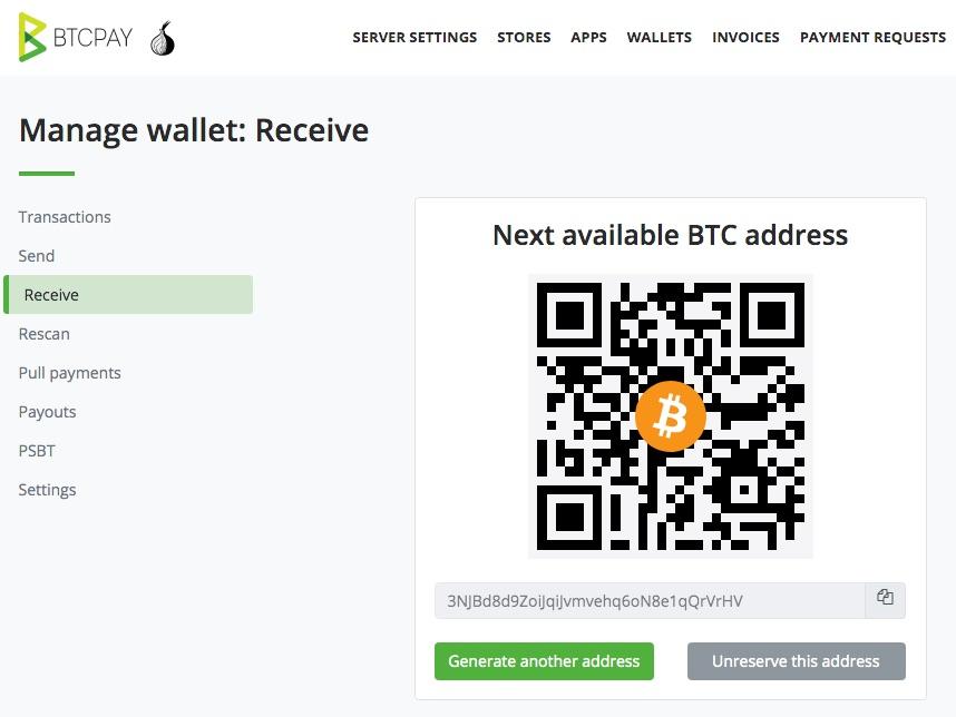 Bitcoin Auszahlung Wallet receive