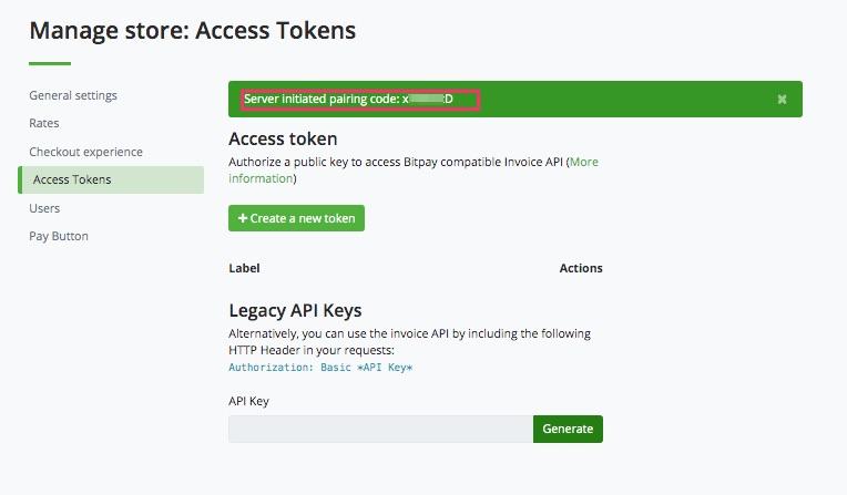 Pairing Code für LibrePatron