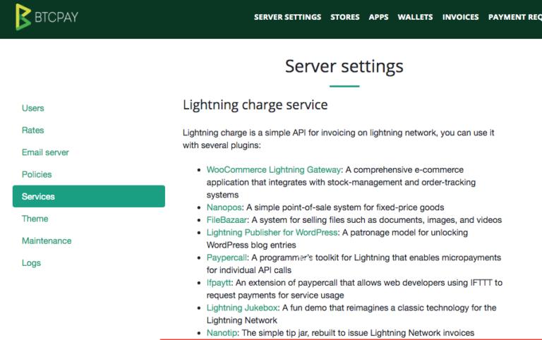 Übersicht C-Lightning Anwendungen