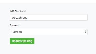Bitcoin Abozahlung request pairing