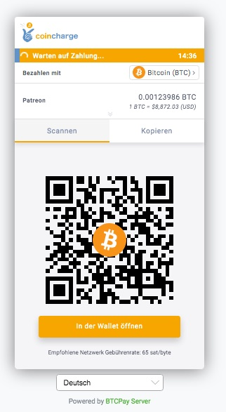 Bitcoin Zahlung für Abomodelle