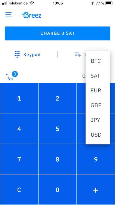 Breez Wallet Keypad