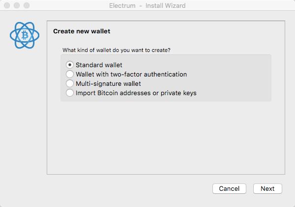Electrum-Wallet Standard Wallet