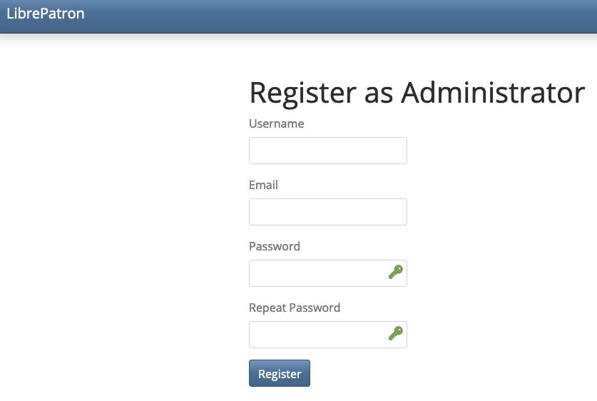 LibrePatron Admin Setup
