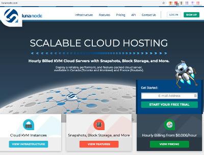 Lunanode Homepage