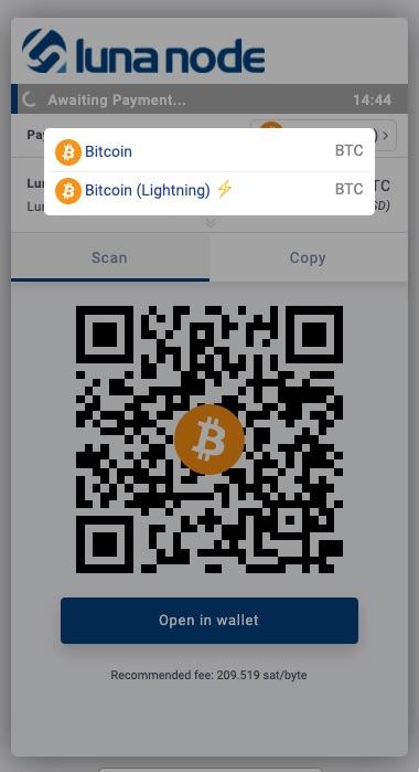 Lunanode payment Bitcoin Lightning