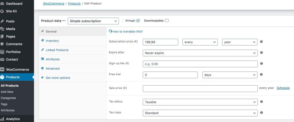 Lunanode hosting subscription