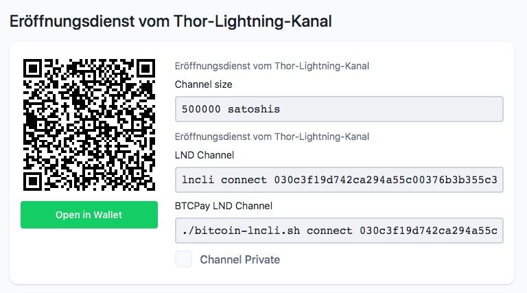 Thor Lightning Kanal
