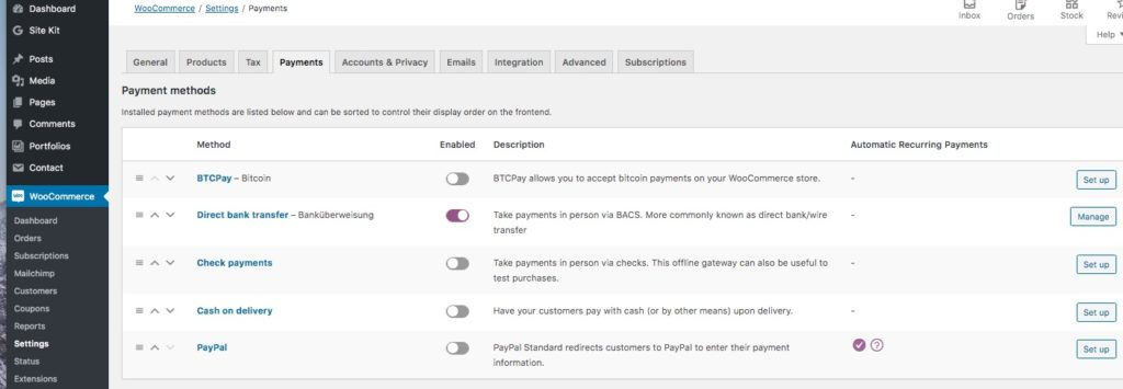 WooCommerce Bitcoin Payment
