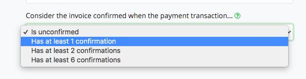 Confirmed Transaktion