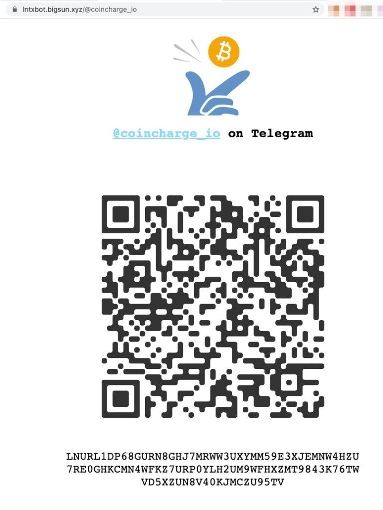 lntxbot coincharge Lightning Address