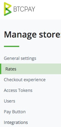 Manage BTCPay Store
