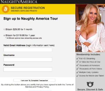 Naughty America akzeptiert Bitcoin