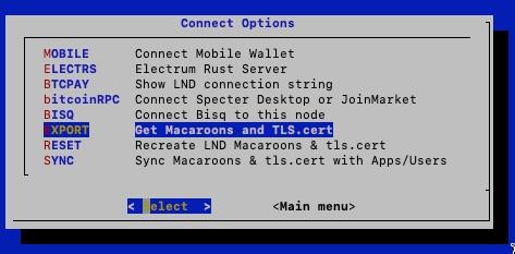 Get Macaroons and TLS.cert