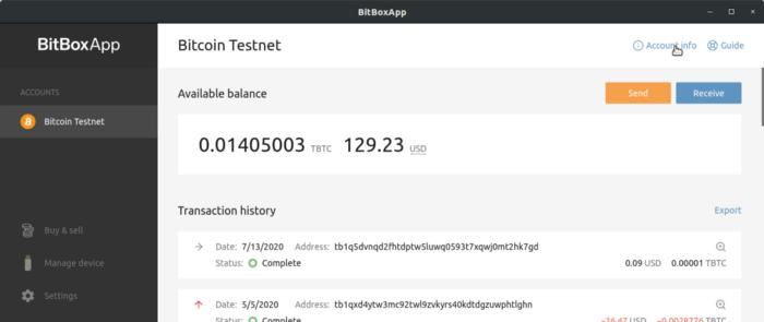 Bitbox xPub Key