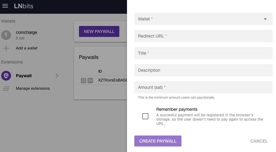 LNbits Paywall