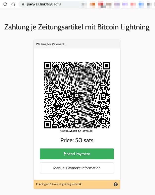 LNbits Paywall Link