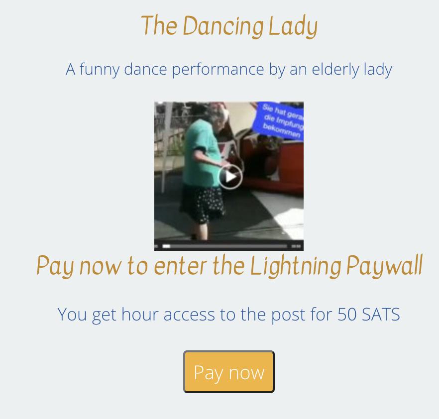 BTCPayWall - Pay-per-view