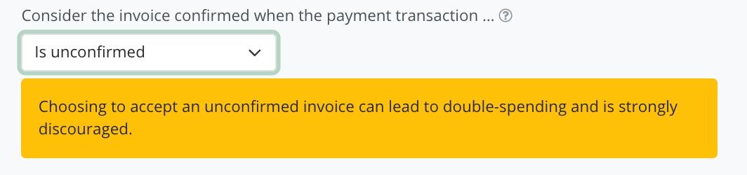 BTCPay Bitcoin Transaktionsgebühr