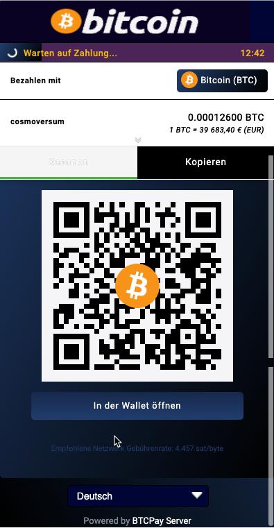 Bitcoin zahlung