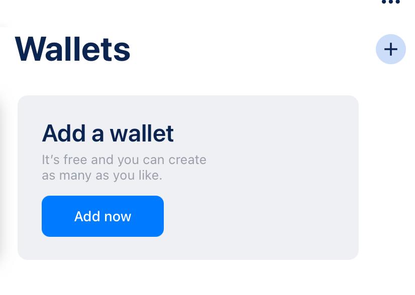 BlueWallet add a wallet