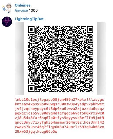 LightningTipBot Invoice